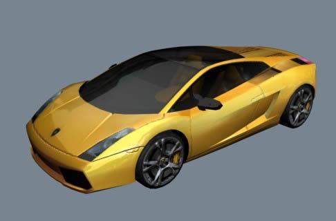 imagen Automovil gell 3d, en Automóviles en 3d - Medios de transporte