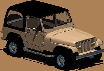 Automovil jeep wrangler, en Automóviles en 3d – Medios de transporte