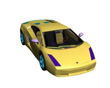 Automovil lamborghini gallardo 3d, en Automóviles en 3d – Medios de transporte