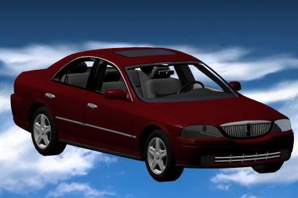 Automovil lincoln 3d, en Automóviles en 3d – Medios de transporte