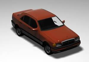 Automovil mercedes benz 3d, en Automóviles en 3d – Medios de transporte