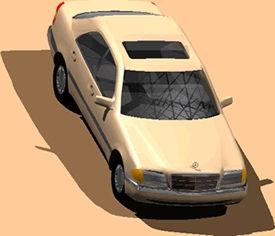 Automovil mercedes clase c, en Automóviles en 3d – Medios de transporte
