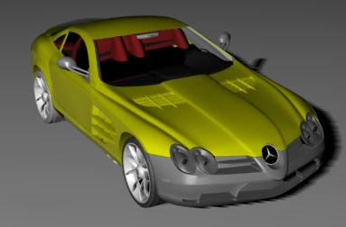 Automovil mercedes slr mclaren, en Automóviles en 3d – Medios de transporte