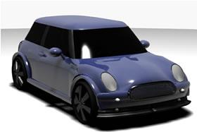 Automovil mini, en Automóviles en 3d – Medios de transporte