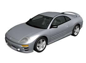 Automovil mitsubishi eclipse 3d modelo europeo, en Automóviles en 3d – Medios de transporte