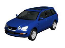 Automovil mitsubishi-modelo europeo, en Automóviles en 3d – Medios de transporte