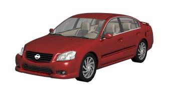 Automovil nissan_altima.zip, en Automóviles en 3d – Medios de transporte
