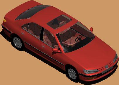 Automovil peugeot 406, en Automóviles en 3d – Medios de transporte