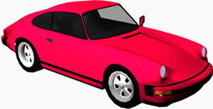 Automovil porsche 3d con materiales aplicados, en Automóviles en 3d – Medios de transporte