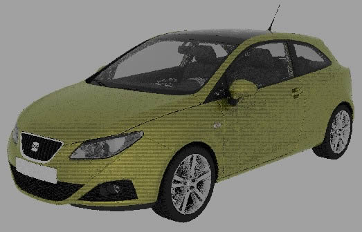 imagen Automovil seat ibiza 2010 3d, en Automóviles en 3d - Medios de transporte