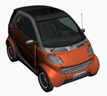 Automovil smart 3d, en Automóviles en 3d – Medios de transporte