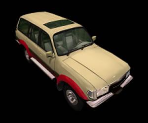 Automovil toyota 3d con materiales aplicados, en Automóviles en 3d – Medios de transporte