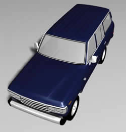 Automovil toyota land cruiser 3d, en Automóviles en 3d – Medios de transporte