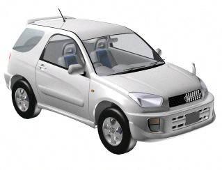 Automovil -toyota rav 400 3d, en Automóviles en 3d – Medios de transporte