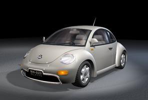 Automovil vw newbeetle, en Automóviles en 3d – Medios de transporte