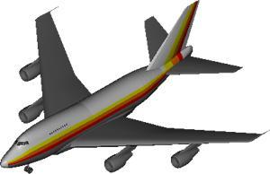 imagen Avion boeing 747 sp, en Aeronaves en 3d - Medios de transporte