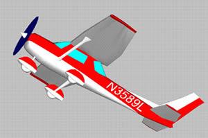 Planos de Avion cessna 3d, en Aeronaves en 3d – Medios de transporte