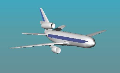 Planos de Avión comercial 3d, en Aeronaves en 3d – Medios de transporte