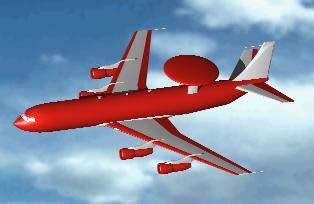 Planos de Avión con radar, en Aeronaves en 3d – Medios de transporte