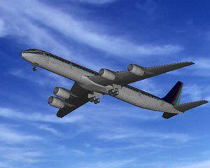 Planos de Avion dc – 8 – 73, en Aeronaves en 3d – Medios de transporte