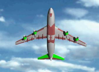 Planos de Avión de transporte de pasajeros 3d, en Aeronaves en 3d – Medios de transporte