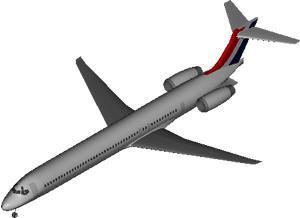 Planos de Avion md 90, en Aeronaves en 3d – Medios de transporte