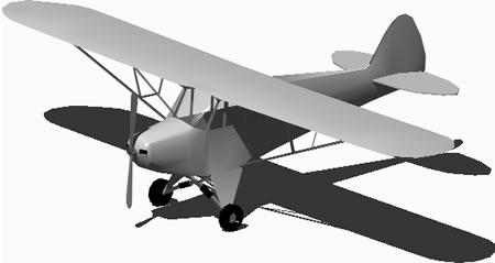 Planos de Avioneta 3d con materiales aplicados, en Aeronaves en 3d – Medios de transporte