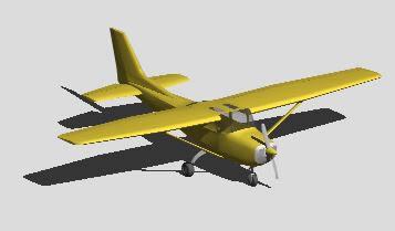 Planos de Avioneta 3d, en Aeronaves en 3d – Medios de transporte