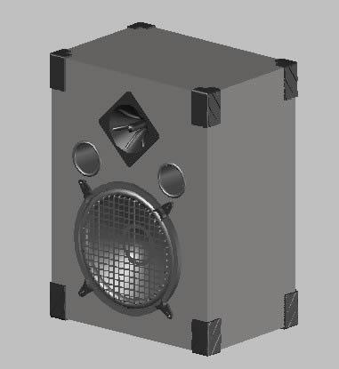 Planos de Bafle de 2 vias  3d, en Instrumentos musicales – Muebles equipamiento