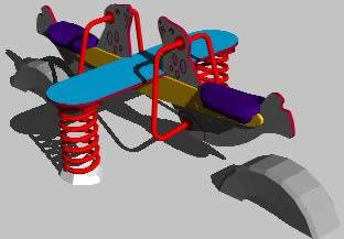 Planos de Balancin 3d, en Juegos infantiles – Equipamiento urbano