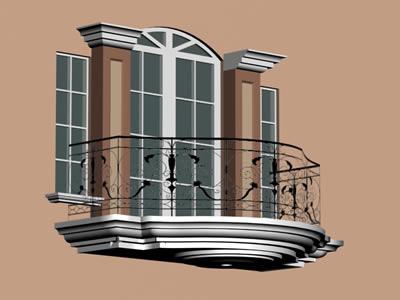 imagen Balcon 3d, en Balcones - Aberturas