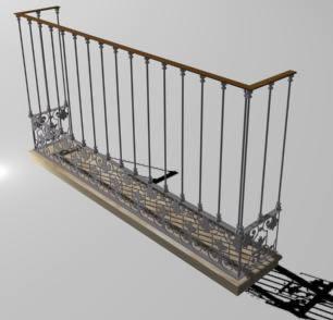 imagen Balcon 3d hierro forjado, en Balcones - Aberturas