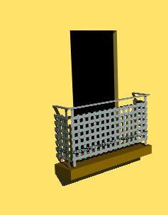 imagen Balcon en 3d, en Balcones - Aberturas