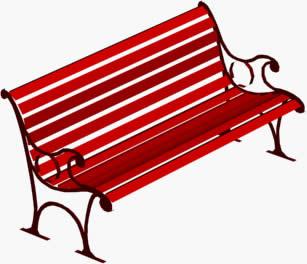 imagen Banca de parque 3d, en Equipamiento - Parques paseos y jardines