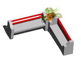 Planos de Banca para jardin de concreto 3d, en Equipamiento – Parques paseos y jardines