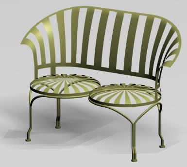 imagen Banca para jardin, en Sillones 3d - Muebles equipamiento