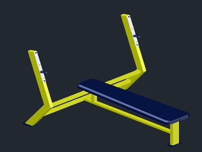 imagen Banca press 3d, en Equipamiento gimnasios - Deportes y recreación