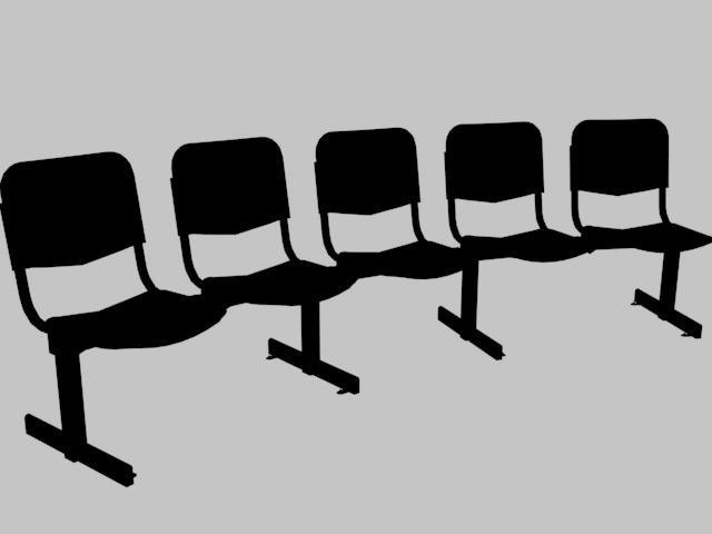 Planos de Bancada articulada para 5 personas 3d, en Sillas 3d – Muebles equipamiento