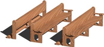 imagen Bancas iglesia, en Sillones 3d - Muebles equipamiento