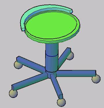 Planos de Banco con rodillo, en Educación – Muebles equipamiento