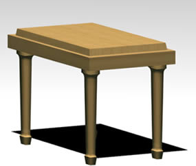 Banco en 3d, en Sillas 3d – Muebles equipamiento