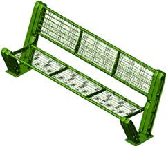 imagen Banco metalico para exteriores 3d, en Equipamiento - Parques paseos y jardines