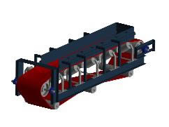 Planos de Banda transportadora 3d, en Industria minera – Máquinas instalaciones