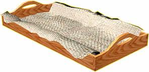 imagen Bandeja de madera 3d, en Vajilla - Muebles equipamiento