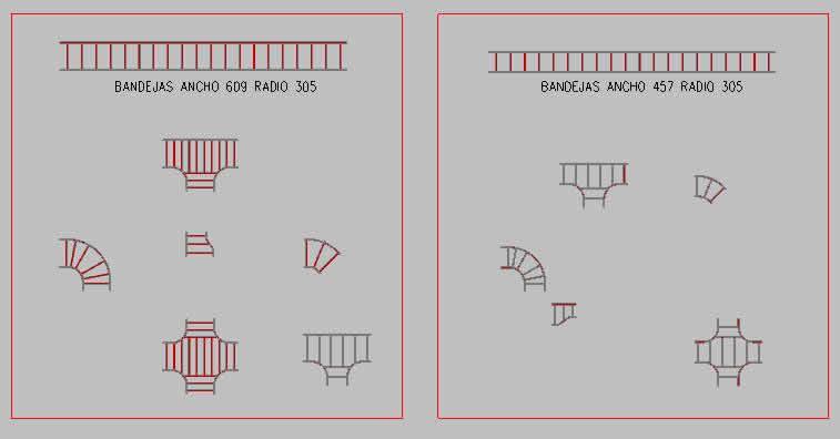 Planos de Bandejas electricas en 3d, en Componentes 3d – Electrónica