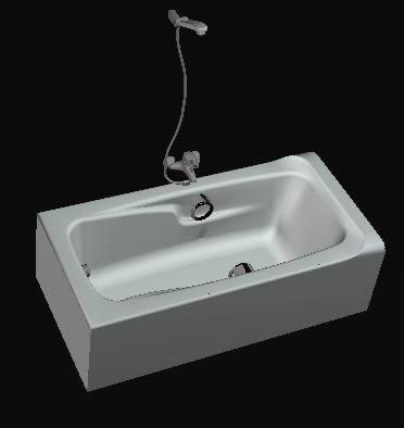 imagen Bañera 3ds, en Bañeras - Sanitarios
