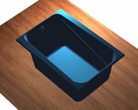 Bañera con aplicacion de materiales, en Hidromasajes – Sanitarios