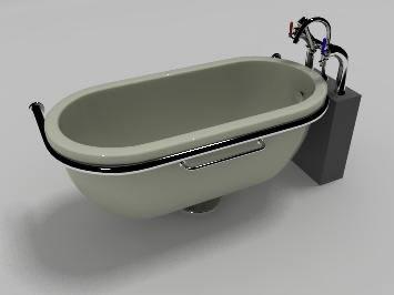 imagen Bañera estilo francesa 3d, en Bañeras - Sanitarios