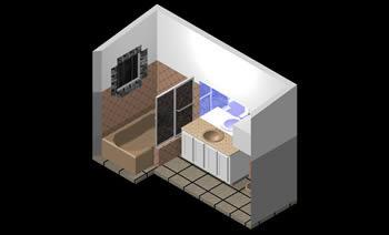 imagen Bano 3d, en Baños - Muebles equipamiento
