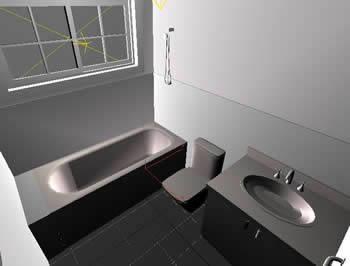 Baño 3d, en Baños – Muebles equipamiento